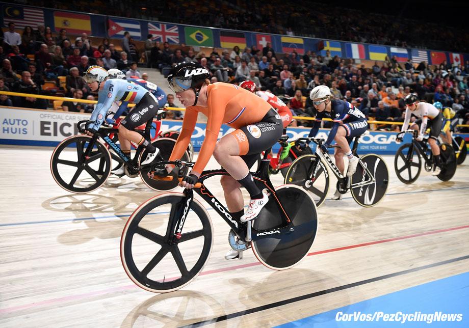 Apeldoorn - Netherlands - wielrennen - cycling - cyclisme - radsport - Kirsten Wild (Netherlands / Cylance Pro Cycling) pictured during World Championships track - baan - bahn - piste - foto: Marc van Hecke/Cor Vos ©2018