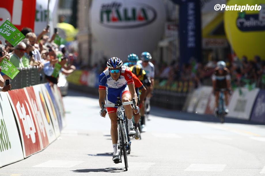 Tour of the Alps.   3° tappa Ora Merano 138,3 km  Thibaut Pinot  Merano, 18 aprile 2018  Photo: MarcoTrovati/Pentaphoto