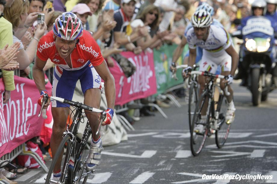 Valkenburg - wielrennen - cycling - radsport - Amstel - Gold Race - Michael Boogerd (Ned-Rabobank) - Paolo Bettini (Ita-Quick Step) - foto Marco Ferrageau/Marketa Navratilova/Cor Vos ©2007