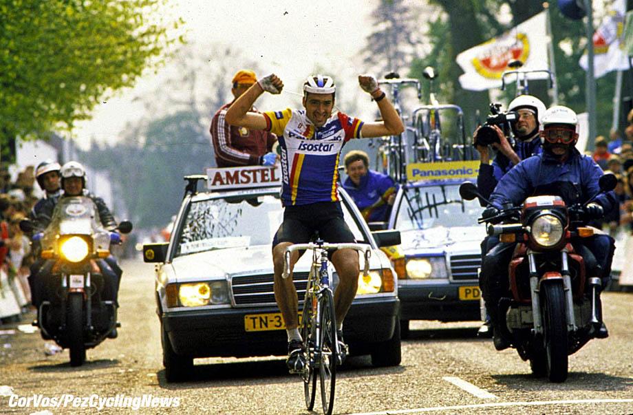 Eric van Lancker wint de Amstel Goldrace, foto Cor Vos©1998