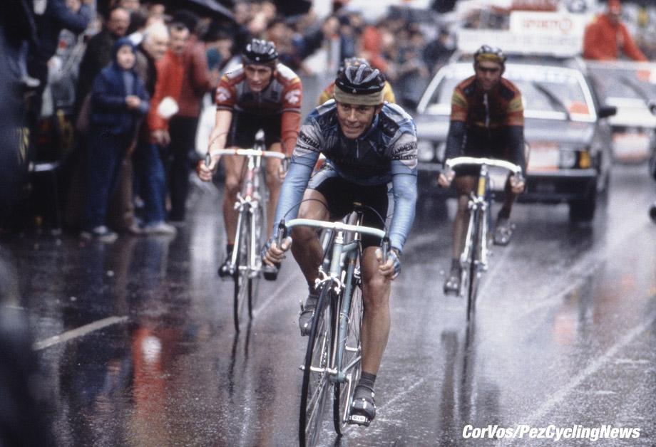 Liege - Belgium - wielrennen - cycling - cyclisme - radsport -  Moreno ARGENTIN - Adri VAN DER POEL and Claude CRIQUIELION pictured during Luik - Bastenaken 1986 - Luik - photo Cor Vos © 2018