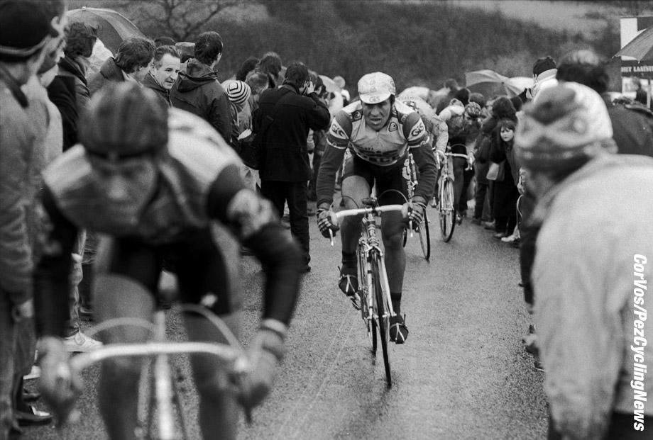 Liege - Belgium - wielrennen - cycling - cyclisme - radsport -  illustration - scenery - carte postal scenic shot - postcard sfeerfoto - sfeer - illustratie climb La Redoute pictured during Luik - Bastenaken 1986 - Luik - photo Cor Vos © 2018
