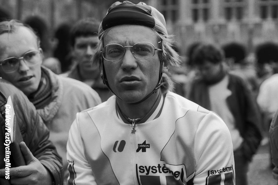 Liege - Belgium - wielrennen - cycling - cyclisme - radsport - Laurent FIGNON  pictured during Luik - Bastenaken 1986 - Luik - photo Cor Vos © 2018