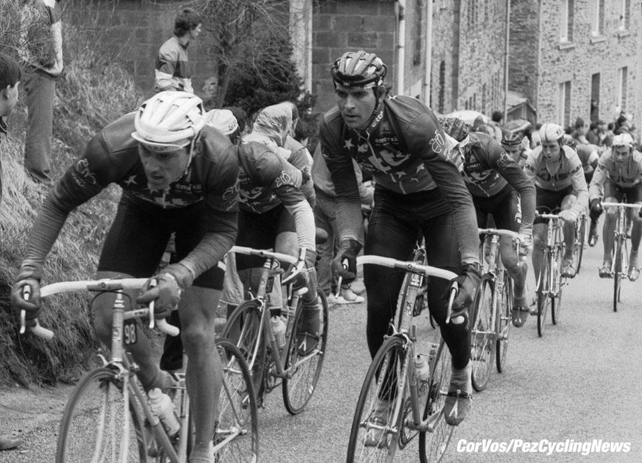 Liege - Belgium - wielrennen - cycling - cyclisme - radsport - Franky VAN OYEN - Marc SERGEANT  pictured during Luik - Bastenaken 1986 - Luik - photo Cor Vos © 2018