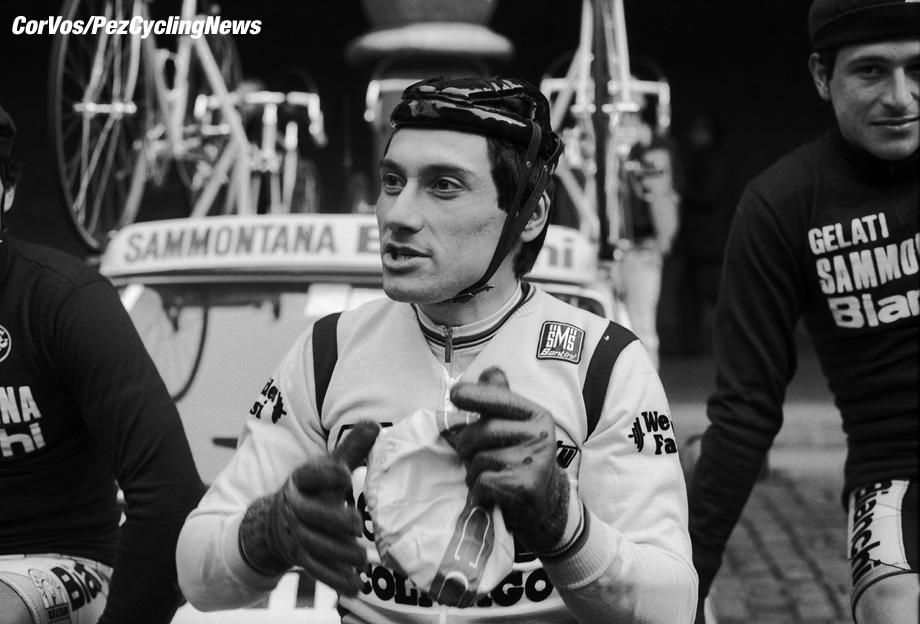 Liege - Belgium - wielrennen - cycling - cyclisme - radsport - Guiseppe SARONNI pictured during Luik - Bastenaken 1986 - Luik - photo Cor Vos © 2018