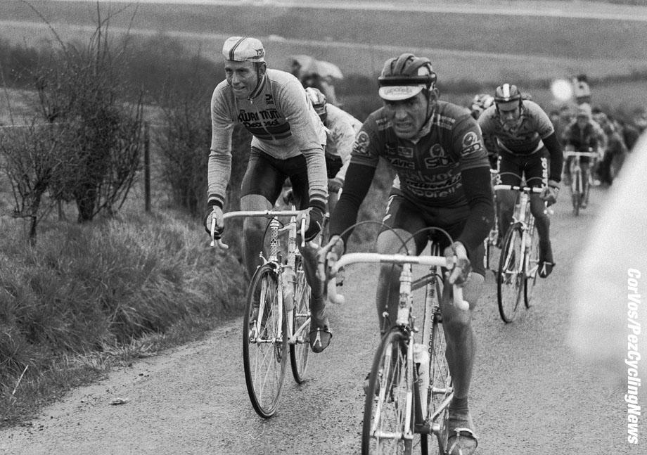 Liege - Belgium - wielrennen - cycling - cyclisme - radsport -  Links Joop ZOETEMELK -Acacio DA SILVA pictured during Luik - Bastenaken 1986 - Luik - photo Cor Vos © 2018