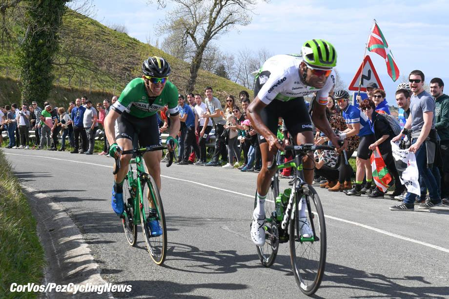 Zarautz - Spain - wielrennen - cycling - cyclisme - radsport - Amanuel GHEBREIGZABHIER WERKILUL (Eritrea / Team Dimension Data) pictured during  58th Itzulia Basque Country stage 1 from Zarautz to Zarautz (162,1 KM) - photo Miwa iijima/Cor Vos © 2018