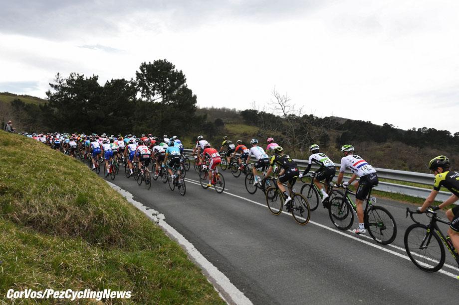 Zarautz - Spain - wielrennen - cycling - cyclisme - radsport -  illustration - scenery - carte postal scenic shot - postcard sfeerfoto - sfeer - illustratie pictured during     58th Itzulia Basque Country stage 1 from Zarautz to Zarautz (162,1 KM) - photo Miwa iijima/Cor Vos © 2018