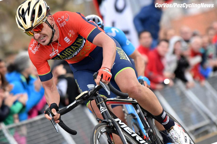 Bermeo - Spain - wielrennen - cycling - cyclisme - radsport - Gorka IZAGUIRRE INSAUSTI (Spain / Team Bahrain - Merida) pictured during 58th Itzulia Basque Country stage 2 from Zarautz to Bermeo (167,4 KM) - photo Miwa iijima/Cor Vos © 2018
