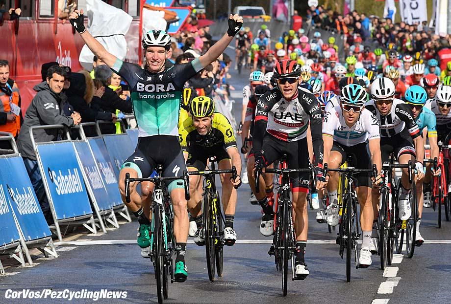Valdegovía - Spain - wielrennen - cycling - cyclisme - radsport - Jay MCCARTHY (Australia / Team Bora - hansgrohe)  pictured during     58th Itzulia Basque Country stage 3 from Bermeo to Valdegovía   (184.8 KM) - photo Miwa iijima/Cor Vos © 2018