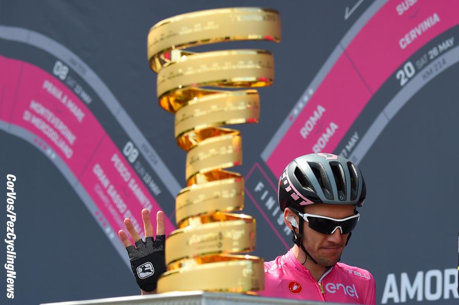 Gualdo Tadino  - Italië - wielrennen - cycling - cyclisme - radsport -  Simon Yates (GBR - Mitchelton - Scott) pictured during the 101st Giro d'Italia 2018 - stage 10 from Penne to Gualdo Tadino (239 KM) - photo DB/LB/RB/Cor Vos © 2018