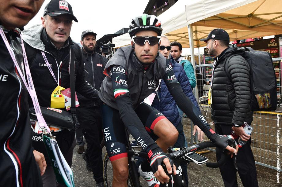 Foto Massimo Paolone - LaPresse  20/05/2018 Tolmezzo-Sappada (Italia) Sport Ciclismo Giro d'Italia 2018 - edizione 101 - tappa 15 TOLMEZZO - SAPPADA Nella foto: ARU Fabio (ITA) (UAE TEAM EMIRATES)   Photo Massimo Paolone - LaPresse May 20, 2018 Tolmezzo-Sappada (Italy)   Sport Cycling Giro d'Italia 2018 - 101th edition -  stage 15 TOLMEZZO - SAPPADA In the pic: ARU Fabio (ITA) (UAE TEAM EMIRATES)