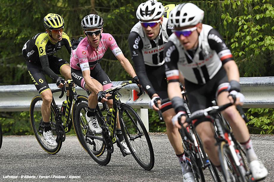 Foto Fabio Ferrari - LaPresse  20/05/2018 Tolmezzo-Sappada (Italia) Sport Ciclismo Giro d'Italia 2018 - edizione 101-  tappa 15 TOLMEZZO - SAPPADA Nella foto: durante la gara.  Photo Fabio Ferrari - LaPresse May 20, 2018 Tolmezzo-Sappada (Italy)   Sport Cycling Giro d'Italia 2018 - 101th edition -  stage 15 TOLMEZZO - SAPPADA In the pic: during the race.