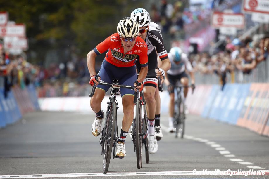 Prato Nevoso - Italië - wielrennen - cycling - cyclisme - radsport - Domenico POZZOVIVO (Italy / Team Bahrain - Merida) pictured during the 101st Giro d'Italia 2018 - stage 18 from Abbiategrasso to Prato Nevoso (196 KM) - photo LB/RB/Cor Vos © 2018