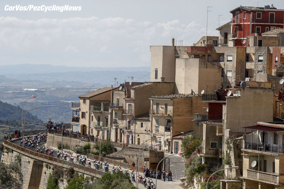 Caltagirone - Italië - wielrennen - cycling - cyclisme - radsport - illustration - scenery - carte postal scenic shot - postcard sfeerfoto - sfeer - illustratie pictured during the 101st Giro d'Italia 2018 - stage 4 from Catania to Caltagirone (198 KM) - photo LB/RB/Cor Vos © 2018