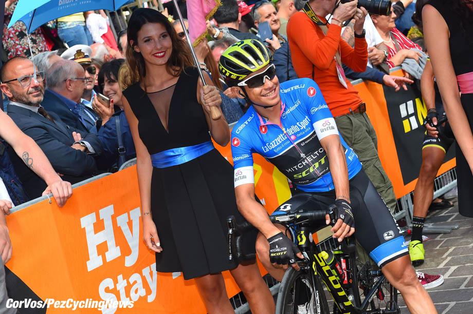 Gran Sasso d'Italia - Italië - wielrennen - cycling - cyclisme - radsport - Johan Esteban Chaves (COL - Mitchelton - Scott) pictured during the 101st Giro d'Italia 2018 - stage 9 from Pesco Sannita to Gran Sasso d'Italia (225 KM) - photo DB/LB/RB/Cor Vos © 2018