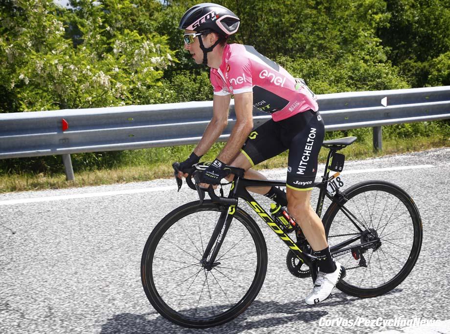 Gran Sasso d'Italia  - Italië - wielrennen - cycling - cyclisme - radsport -  Simon Yates (GBR - Mitchelton - Scott) pictured during the 101st Giro d'Italia 2018 - stage 9 from Pesco Sannita to Gran Sasso d'Italia (225 KM) - photo LB/RB/Cor Vos © 2018