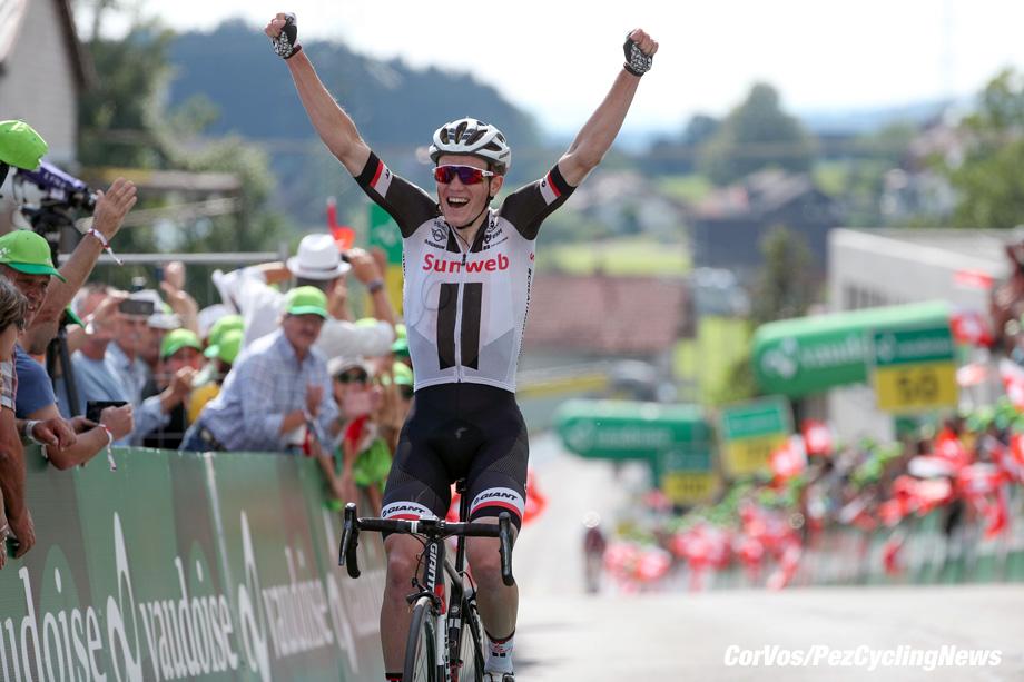 Gommiswald - Swiss - wielrennen - cycling - cyclisme - radsport - Soren KRAGH ANDERSEN (Danmark / Team Sunweb) pictured during the 82nd Tour de Suisse (2.UWT) stage 6 from Fiesch to Gommiswald 186KM - photo Luis Gomez/Cor Vos © 2018