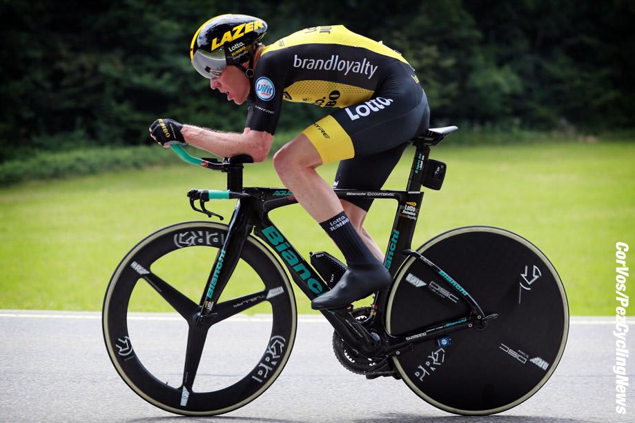 Bellinzona - Swiss - wielrennen - cycling - cyclisme - radsport - KRUIJSWIJK Steven  (NED)  of Team Lotto NL - Jumbo pictured during the 82nd Tour de Suisse (2.UWT) stage 9 from  Bellinzona to Bellinzona 34KM - ITT - Time Trial Indidual - photo Heinz Zwicky/Cor Vos © 2018