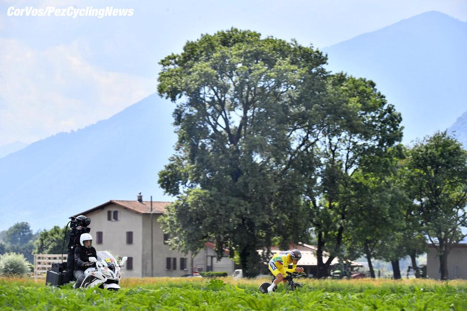 Bellinzona - Swiss - wielrennen - cycling - cyclisme - radsport -  Richie PORTE (Australia / BMC Racing Team)  pictured during the 82nd Tour de Suisse (2.UWT) stage 9 from  Bellinzona to Bellinzona 34KM - ITT - Time Trial Indidual - photo Cor Vos © 2018