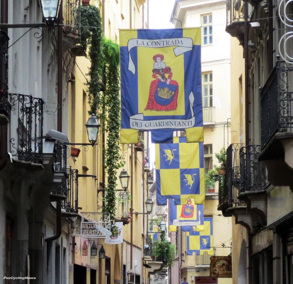 street banners in torino